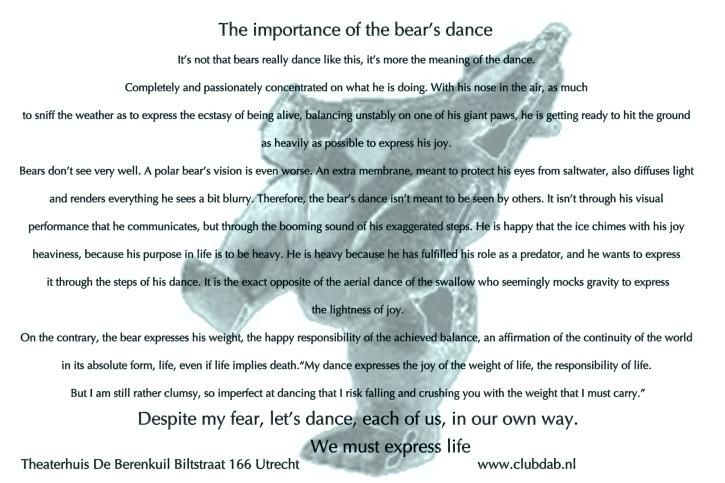 Dancing bear tekst